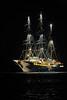 C'est un fameux trois mâts (latourinfernal) Tags: pirate caraïbe nuit troismats vieuxgréement mer illumination