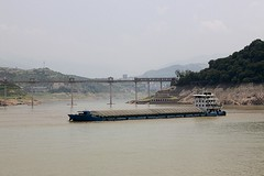 Qutang Gorge (oxfordblues84) Tags: qutanggorge yangtzerivercruise yangtzeriver victoriacruises vikingrivercruise victoriajenna victoriajennacruise peoplesrepublicofchina china threerivergorges rivercruise riverboatcruise mountains river water cruising cruise sky clouds cloudy cloud riverbank oat overseasadventuretravel scenicrivercruising scenicrivercruise bridge barge riverbarge
