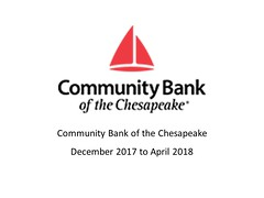 "Community Bank of The Chesapeake - December 29, 2017 - April 20, 2018 • <a style=""font-size:0.8em;"" href=""https://www.flickr.com/photos/124378531@N04/38765610784/"" target=""_blank"">View on Flickr</a>"