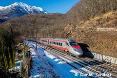 ETR 610 004 / Mezzovico (Daniel Schärer) Tags: daniel schärer mezzovico ceneri schnee transit transitstrecke transitachse bergstrecke ti fs trenitalia ec eurocity ec19