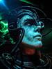 A Borg recharging his cybernetic components (mharrsch) Tags: borg cyborg cyberneticorganism robot artificialintelligence startrek sciencefiction cinema movie drama mopopmuseum seattle washington mharrsch