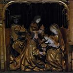 6 - Musée du Louvre - Retable de la passion et de l'enfance du Christ - Anvers, Vers 1500-1510, Chêne polychromé - Détail, L'Adoration de mages thumbnail