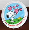 Vintage Peanuts 1980 Valentine's Day Plate By Charles Schulz, Titled From Snoopy, With Love, Fourth In A Limited Edition Series, Produced By Schmid Brothers, Measures 7.5 Inches In Diameter, Made In Japan (France1978) Tags: vintagepeanuts1980valentinesdayplate vintage1980snoopyvalentinesdayplate valentinesdaygreetings happyvalentinesday