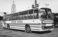Caroline Seagull Coaches ( Cobholm ) . Great Yarmouth , Norfolk . 523FN . Great Yarmouth . (AndrewHA's) Tags: coach bus aec reliance plaxton panorama elite lll 523fn caroline seagull cobholm great yarmouth norfolk second hand east kent road car canterbury rebody park royal