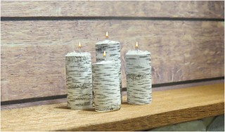 Birch Bark Candles for Barbie