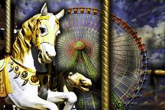 Vorágine de color (Juan Pedro Gómez-51) Tags: caballo caballosdeltíovivo horses thecarouselhorses feria fair noria bigwheel velocidad vértigo speed geometría geometry parquedeatracciones ferriswheel amusementpark ruedadelafortuna wheeloffortune símbolo symbol simbólico symbolic concepto conceptual conceptualismo concept conceptualism