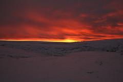 Fire And Snow (Derbyshire Harrier) Tags: dawn derbyshire darkpeak 2017 winter snow peakdistrict peakpark predawn glow orange moorland layers fire