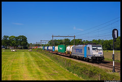 Metrans 186 291, Deventer Colmschate 25-05-2017 (Henk Zwoferink) Tags: deventer overijssel nederland nl metrans 186 291 railpool rp colmschate bombardier traxx henk zwoferink hhla