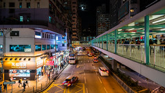New Moon On Monday (Gerald Ow) Tags: mongkok hongkong moon sony a7rm2 a7rii a7rmk2 fe 1635mm f4 za oss zeiss moonlight street scene city geraldow 香港 旺角 西洋菜南街