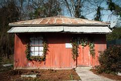 Shoe Repair (MilkaWay) Tags: georgia madison madisonga morgancounty christmas holiday building abandoned forgotten red