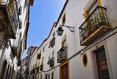 Street in Evora (Jocelyn777) Tags: buildings street balconies doorsandwindows historictowns historicalcentre cities towns whitevillages evora alentejo portugal travel
