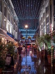 London Lights (amipal) Tags: 175mm capital city england gb greatbritain lights london lowlight manuallens night people rain street uk unitedkingdom urban voigtlander wet