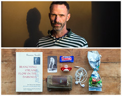 Matt Diptych (J Trav) Tags: persona diptych portrait whatsinyourbag theitemswecarry showusthecontentsofyourbag yoga man losangeles thingsorganizedneatly