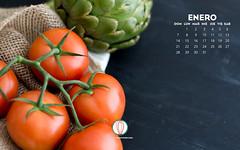 Foodies Freebie: January 2018 Wallpaper Collection (twofoodies) Tags: 2018 january enero download free freebie wallpaper tomato artichoke chalkboard