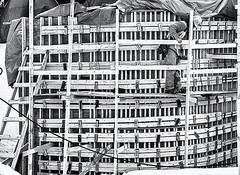 Industrialscape # 15 ... ; (c)rebfoto (rebfoto ...away on assignment...) Tags: architecture industrial monochrome building construction concrete rebfoto blackandwhite