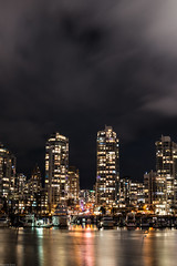 Hope you all have a great weekend!🍻 (Sonika Arora 604) Tags: stampslanding vanouver yaletown vancity downtown britishcolumbia bc beautifulbc canada explorebc explorevancouver explorecanada night nightphotography longexposure towers buildings condos water reflections boat dark sky clouds black highlights shadows