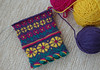 Addicted to knitting! (Blue sky and countryside) Tags: lizbeth upitis mittens knitting handmade iloveknitting pure wool peruvian cascadeyarns skill busy hands enjoyable crafts derbyshire england pentax bright colourful latvian ethnographicpattern latviantwist