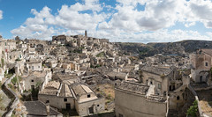 Matera Sassi Panorama XL (LYSVIK PHOTOS) Tags: ancient wideangle basilicataregion nopeople famousplace ultrawide highangle day colorimage panorama town unesco summer tourism photographyimages puglia travel italy matera history outdoors basilicata architecture buildingexterior wide traveldestinations sky building