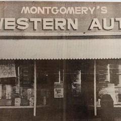 Montgomery's Western Auto Store Monticello, IL c1958 (RLWisegarver) Tags: piatt county history monticello illinois usa il