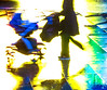 Homage To Haas (stephenbryan825) Tags: limestreet liverpool abstracts color contrast graphic multicoloured people rain reflection selects vivid walking wetpavement