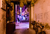 (perryge) Tags: travel macau streetphotography colours neon signs night people woman walking candid old traditional incense bicycle gate door sign urban city buildings architecture