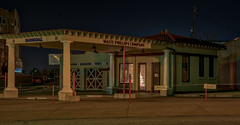 Waite Phillips Station at night (_patclancy56) Tags: tulsa night historical oklahoma sapulpa rt66 longexposure