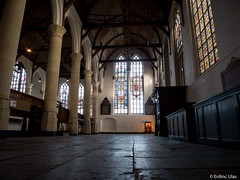 Inside the church (✦ Erdinc Ulas Photography ✦) Tags: church old ancient culture dark window wood edam city stad kerk oud christian pilaar pillar netherlands nederland donker godsdienst religion holland dutch lood stained glass glas stone steen sundaylights