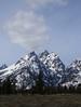 Teton - Teton Peak (Drriss & Marrionn) Tags: travel wyoming roadtrip usa teton mountainside landscape nature mountainrange snow sky trees landscapes bluesky