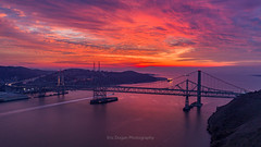 Chasing a Burning Sky (Eric Dugan) Tags: carquinezstrait burning sky clouds sunset carquinez bridge san pablo bay