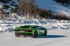 Aventador S in the Snow (Nico K. Photography) Tags: lamborghini aventador s lp7404 green supercars snow nicokphotography italy livigno