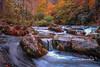 Falling Mountain Stream (tclaud2002) Tags: stream mountainstream water falls waterfall mountain mountains rock rocks nature mothernature landscape outdoors rural country andrews northcarolina fall colors trees