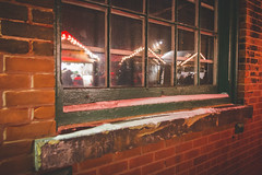 Window Reflections (A Great Capture) Tags: windowsill pane market christmas lights distillerydistrict building historic brick reflection window torontochristmasmarket tcm17