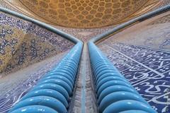 Grande mosquée de l'Imam à Ispahan (Iran) (françoisjoly85) Tags: iran ispahan pentaxart mosquée mosque perspective architecture grandemosquéedelimam