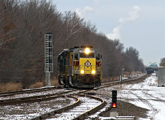 Happy EL New Year! (Erie Limited) Tags: norfolksouthern ns emd sd452 erielackawanna heritageunit cpron portreadingnj gardenstatesecondary train railfan railroad