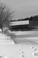 Quechee Covered Bridge (pegase1972) Tags: us usa unitedstates vt vermont bridge coveredbridge bw blackandwhite