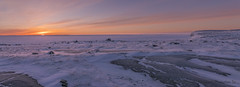 Return of the Sun (Mathieu Dumond) Tags: canada arctic nunavut kugluktuk seaice tundra january winter landscape sun sky colors sunrise snow cold frozen panorama nature mathieudumond umingmakproductions inexplore