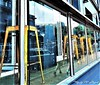 286. WINDOW WATCH: Look In Look Out (Meili-PP Hua 2) Tags: glass window reflections pedestrians stools chairs seats building interior exterior dwwg