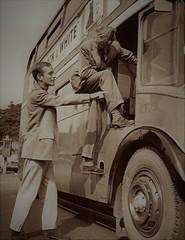 Ex London transport RT73 August 1959. (Ledlon89) Tags: londontransport lt lte bus buses rtbus aecregent rt londonbus londonbuses 1959 moscow london transport alltypesoftransport aec regent chiswickworks lptb