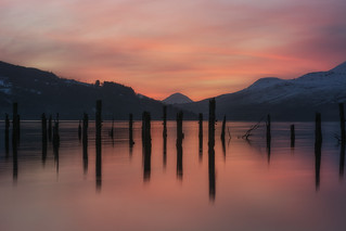 Sunset at Loch Tay