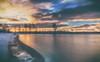 Brief glimpse of sunlight (BigWhitePelican) Tags: helsinki finland sea suomenlahti sun morning sunrise peaceful shore canoneos70d adobelightroom6 niktools 2017 december