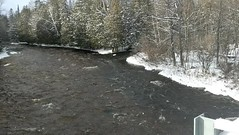 Trout waters in winter (yooperann) Tags: trenary upper peninsula michigan alger county whitefish river scott creek junction snowing sunshine snowshower video