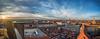 Sonnenuntergang von der Kreuzkirche aus gesehen (matthias_oberlausitz) Tags: kreuzkirche dresden kulturpalast altmarkt striezel striezelmarkt frauenkirche schloss hofkirche markt sonnenuntergang prager strase