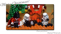 Merry Christmas! (RagingPhotography) Tags: lego star wars imperial galactic empire stormtroopers storm troopers darth vader sith lord merry christmas happy holidays card joy joyful stockings tree santa claus presents gifts coal charcoal naughty nice plastic toy toys minifigure minifig figure wreath ragingphotography