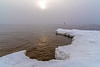 (Daniel000000) Tags: lake michigan sky sun light ice snow up upper peninsula winter cold midwest nikon dslr d750 white new art nature landscape lighthouse fog mist december reflections