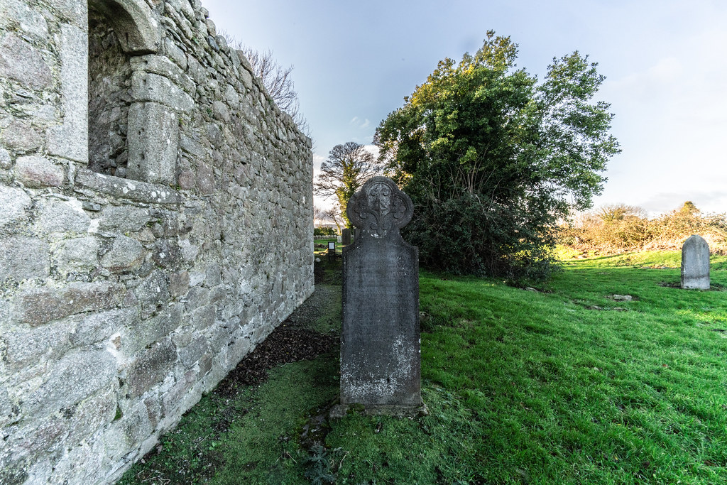 ANCIENT CHURCH AND GRAVEYARD AT TULLY [LAUGHANSTOWN LANE NEAR THE LUAS TRAM STOP]-134586