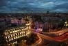 Metropolis bluilding by sunset / Edificio Metrópolis al anochecer (galayos) Tags: madrid metropolis metrópolis night lights sunset atardecer