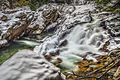 weeks falls 12-27-17-ps (Light of the Moon Photography) Tags: north cascades south fork snoqualmie river weeks falls snow ice winter washington state long exposure