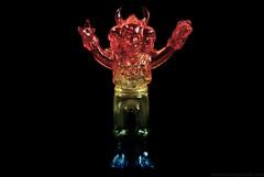 Rainbow Mini Doku Rocks. (Nicholas Fung) Tags: ソフビ kaiju soft vinyl sofvi toy toys skull skulltoys dokurocks doku rocks dokuro ドクロ rainbow chairoi brown skeleton 茶色いブラウン realxhead rxh real head clear softvinyl sofuvi japanesetoys toypizza vinyltoys