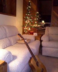 Baby Taylor - Christmas  2017 (Jeffxx) Tags: baby taylor guitar christmas tree artifical couch camano 2017