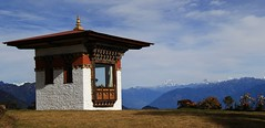 Druk Wangyal Chortens at Dochula Pass 3100m (34) (Richard Collier - Wildlife and Travel Photography) Tags: bhutan chortons drukwangyalchortens dochulapass buddhism